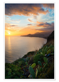 Poster Premium  Bay of Funchal at Sunset, Madeira - Markus Kapferer