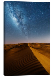 Stampa su tela  Milky way over dunes, Oman - Matteo Colombo