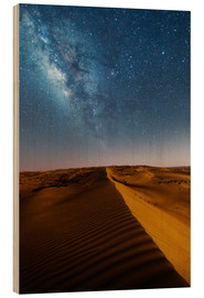 Legno  Milky way over dunes, Oman - Matteo Colombo