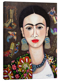 Tela  Frida thoughts - Madalena Lobao-Tello