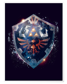 Poster Premium  Epic Shield of Hyrule - Barrett Biggers