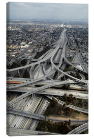 Tela  Los Angeles, Aerial of Judge Harry Pregerson Interchange and highway. - David Wall