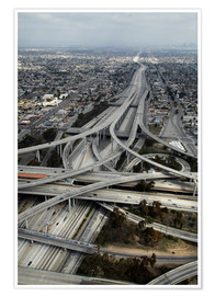 Poster Premium  Autostrade a Los Angeles - David Wall