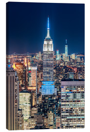 Stampa su tela  Empire State Building from Top Of The Rock - Sascha Kilmer