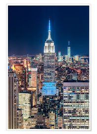Poster Premium  Empire State Building from Top Of The Rock - Sascha Kilmer