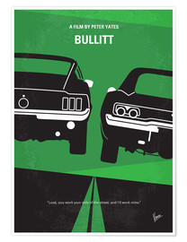 Poster No214 My BULLITT minimal movie poster