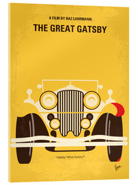 Vetro acrilico  No206 My The Great Gatsby minimal movie poster - chungkong