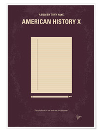 Poster Premium No247 My AMERICAN HISTORY X minimal movie poster