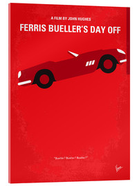 Vetro acrilico  No292 My Ferris Bueller's day off minimal movie poster - chungkong
