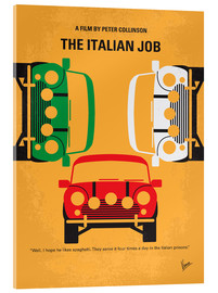 Vetro acrilico  The Italian Job - No279, minimal movie poster - chungkong