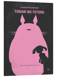 Stampa su alluminio  No290 My My Neighbor Totoro minimal movie poster - chungkong