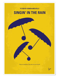 Poster Premium No254 My SINGIN IN THE RAIN minimal movie poster