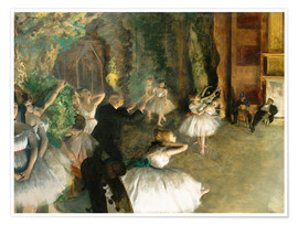 Poster Premium The Rehearsal of the Ballet Onstage