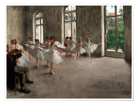 Poster  The Rehearsal - Edgar Degas