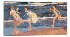 Legno  Running Along the Beach - Joaquin Sorolla y Bastida