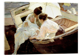 Stampa su vetro acrilico  After the bath in the sea - Joaquín Sorolla y Bastida