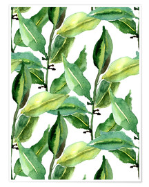 Poster Premium  Leaves pattern