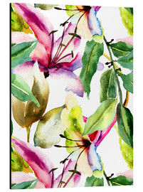 Alluminio Dibond  Lily in Watercolor