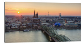 Stampa su alluminio  Panorama view of Cologne at sunset - Michael Valjak