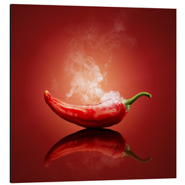 Alluminio Dibond  Red Hot smoking Chili still life - Johan Swanepoel