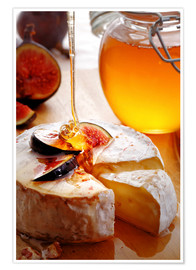 Poster Premium  Brie Cheese and Figs with honey - Johan Swanepoel