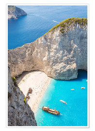 Poster Premium  Shipwreck beach on Zakynthos - Matteo Colombo