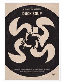 Poster No370 My Duck Soup minimal movie poster