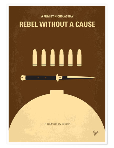 Poster No318 My Rebel without a cause minimal movie poster