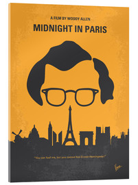 Vetro acrilico  No312 My Midnight in Paris minimal movie poster - chungkong