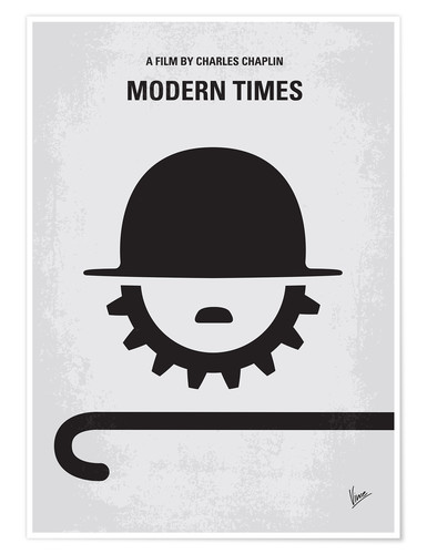 Poster No325 My MODERN TIMES minimal movie poster