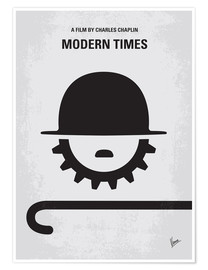 Poster  No325 My MODERN TIMES minimal movie poster - chungkong