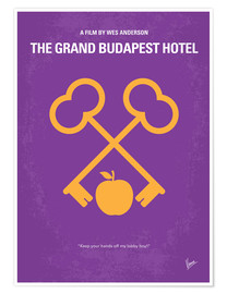 chungkong - No347 My The Grand Budapest Hotel minimal movie poster