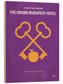 Stampa su legno  No347 My The Grand Budapest Hotel minimal movie poster - chungkong