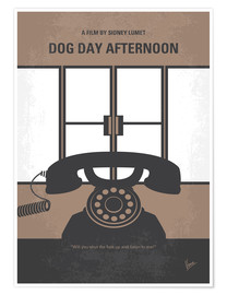Poster Premium No479 My Dog Day Afternoon minimal movie poster