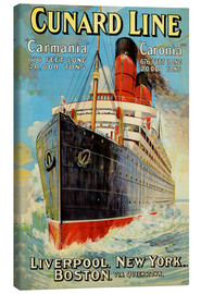 Stampa su tela  Cunard Line - Liverpool, New York, Boston - Edward Wright