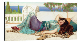Stampa su alluminio  Mischief and Repose - John William Godward