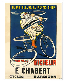 Poster Premium  Bicycle tires Michelin - H.L. Roowy