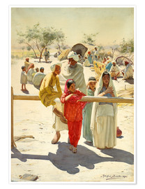 Poster Premium  A view of the train, India - Rudolf Swoboda