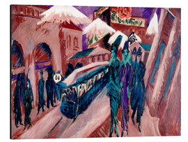 Stampa su alluminio  Leipziger Strasse with electric train - Ernst Ludwig Kirchner