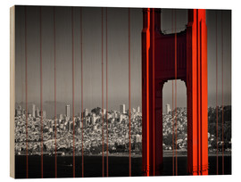 Stampa su legno  Golden Gate Bridge in Detail - Melanie Viola