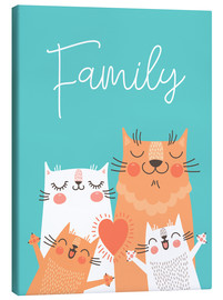 Stampa su tela  Family cats - Kidz Collection