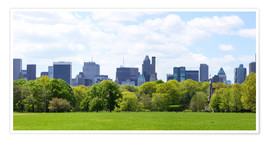 Poster Premium  Central Park with Manhattan skyline panorama, New York