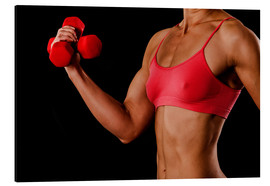 Stampa su alluminio  Fitness woman with dumbbells