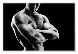 Poster Premium  Bodybuilder with arms crossed