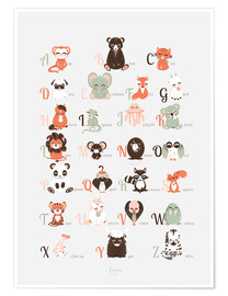 Poster Premium abc animals   english