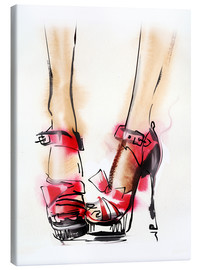 Tela  Red High Heels