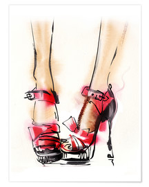 Poster Premium Red High Heels