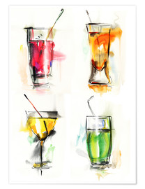 Poster Premium  Drink colorati