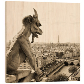 Legno  Gargoyle over Paris