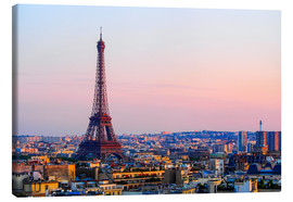 Stampa su tela  Eiffel Tower in the evening, Paris